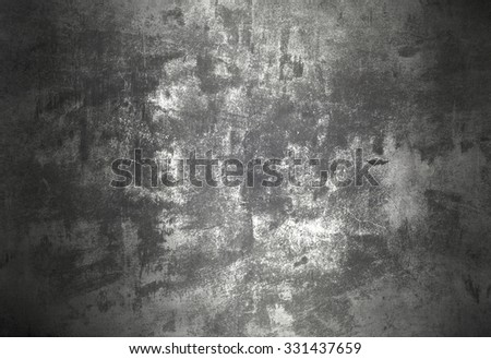 Silver metal plate - stock photo