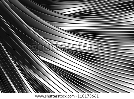 Silver metal shiny abstract 3d background illustration - stock photo