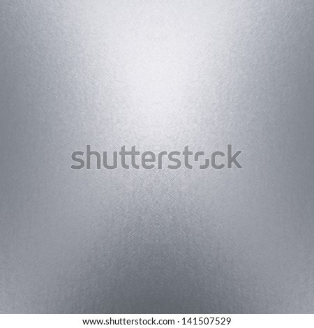 silver metal texture background with beam of spot light - stock photo