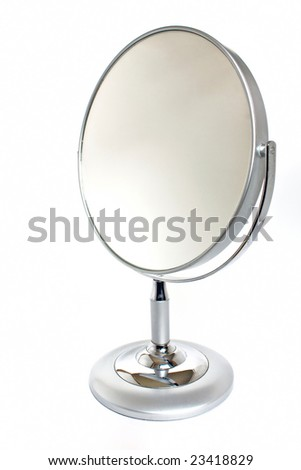 Silver mirror isolated