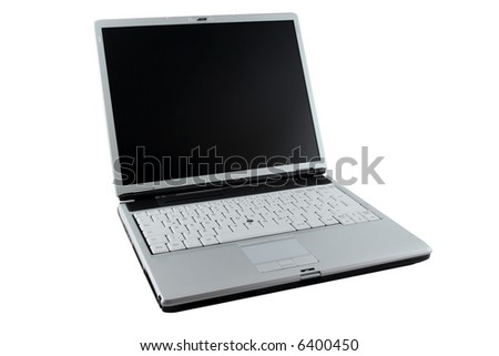 Silver opened Notebook - stock photo