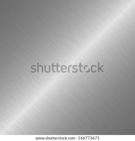 Silver or metal surface with linear gradient - stock photo