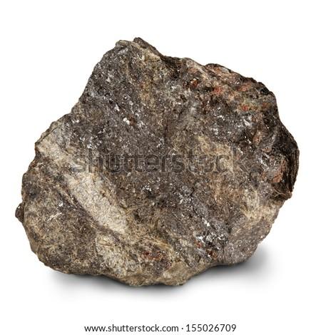 silver ore - stock photo