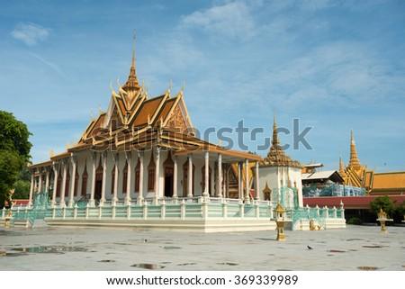 Silver Pagoda Complex, in Phnom Penh, Cambodia - stock photo