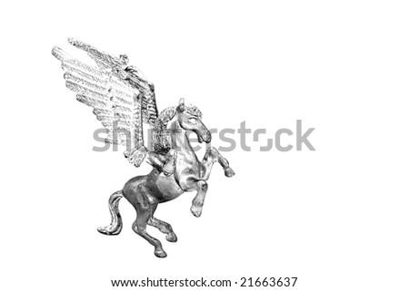 Silver pegasus - stock photo