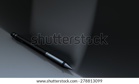 Silver pen for adv or others purpose use - stock photo