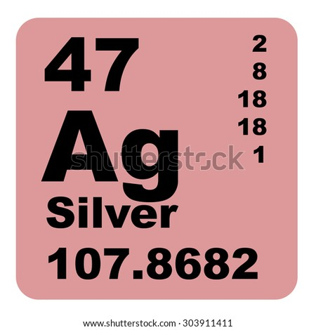 Silver periodic table elements stock illustration 303911411 silver periodic table of elements urtaz Images