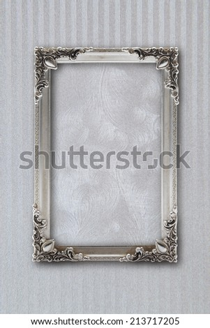 silver picture frame on background with effects - stock photo