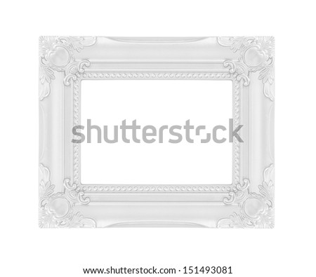 Silver picture frames. Isolated on white background - stock photo