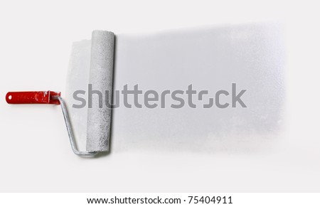 silver platen isolated on white - stock photo