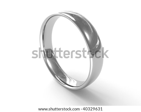 Silver ring - stock photo