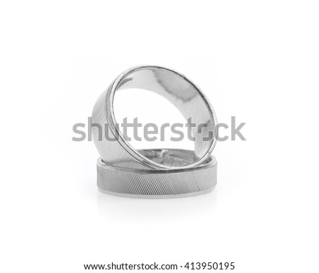 silver ring isolated on white background