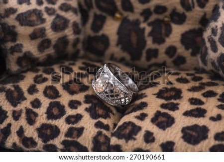 Silver Ring on Tiger sofa