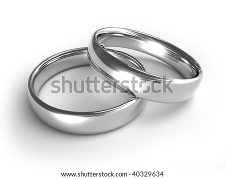 Silver rings - stock photo