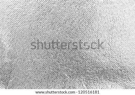 silver rough wrinkle foil texture - stock photo