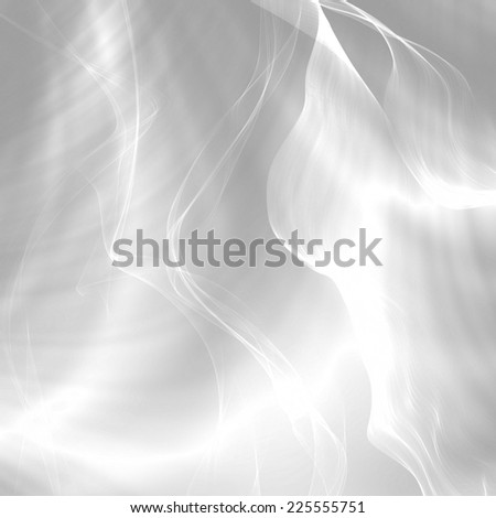 Silver satin abstract wavy elegant texture backdrop - stock photo