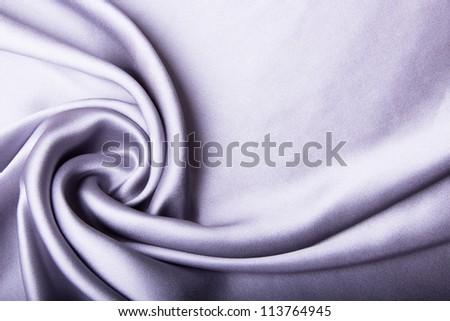 Silver satin drapery - stock photo