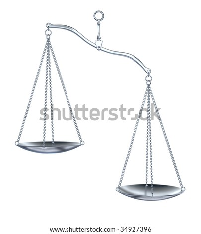 Silver scale on white background - stock photo