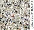 Silver sequins pattern texture fashion background - stock photo