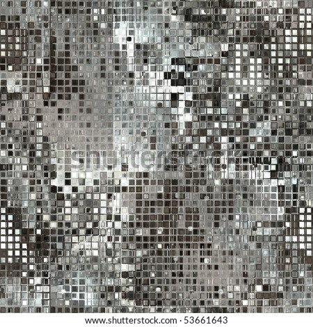 Silver Sequins Seamless Background - stock photo