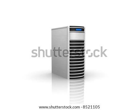 silver server - stock photo