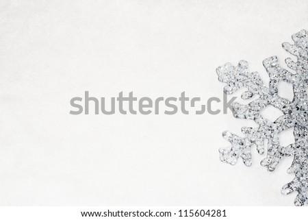 Silver Snowflake - stock photo