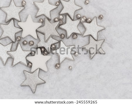 silver stars background - stock photo
