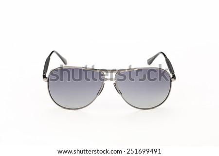 Silver sunglasses - stock photo