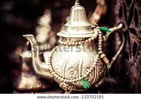 Silver Tea Pot - stock photo
