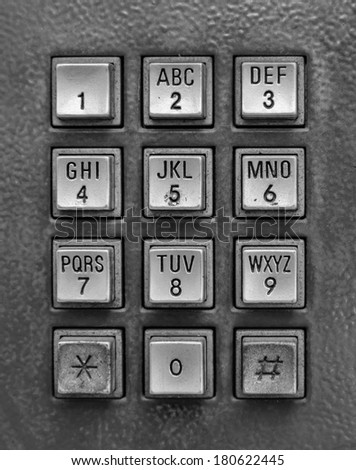 Silver telephone key pad