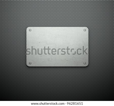 Silver template, business card background - stock photo
