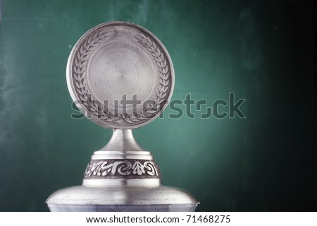 Silver trophy isolated on the background. - stock photo