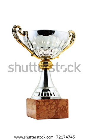 Silver trophy, isolated on white