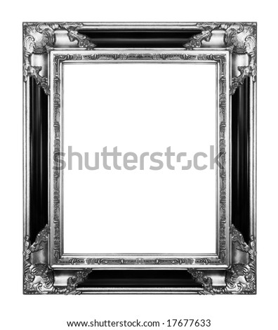 silver vintage ornate frame, similar available in my portfolio - stock photo