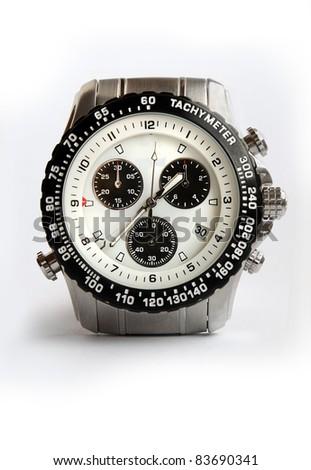 Silver  watch - stock photo