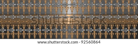 Silver with gold vintage background