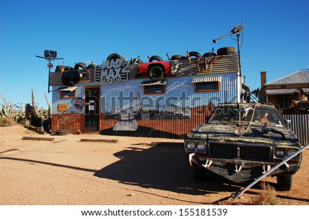 SILVERTON, AUSTRALIA - MARCH 18: Silverton is a small village at the far west of New South Wales, Australia, 25 kilometres north-west of Broken Hill. Mad Max museum, Australia - March 18, 2013  - stock photo