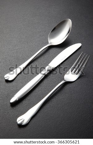 Silverware Set with Fork, Knife, and Spoons