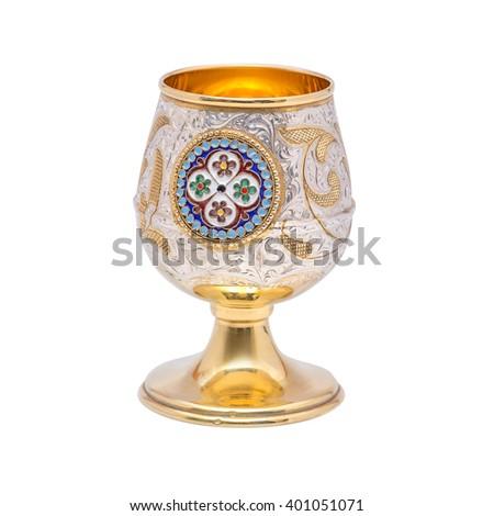 silverware, table silver, wineglass, glass  - stock photo