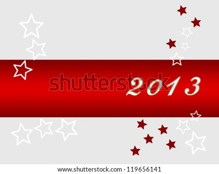 Silvester background for your designs in red with stars - stock photo