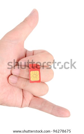 Sim card - stock photo
