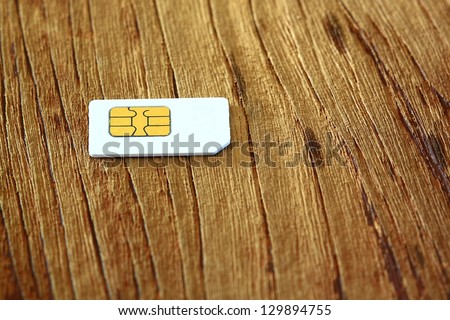 Sim card for mobile - stock photo