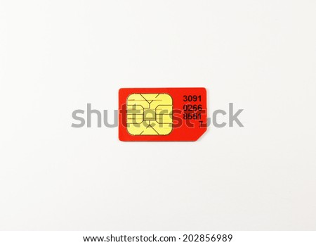 SIM card microchip close up - stock photo