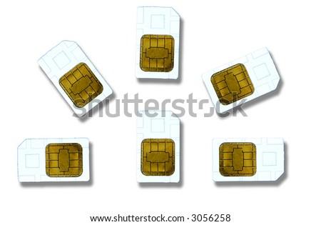 sim cards - stock photo