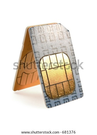 SIM cards for cell phones - stock photo