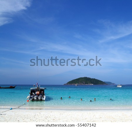 Similan Beach Island Number 4 ,Paradise island located at south of Thailand