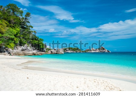 Similan island and beautiful tropical beach at Andaman sea in southern Thailand