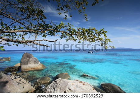 Similan islands, Thailand,  - stock photo