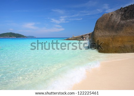 Similan, The most striking seascape of Thailand - stock photo