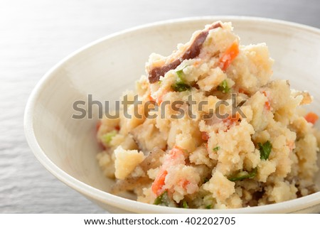 Simmered Soybean Pulp,japanese food